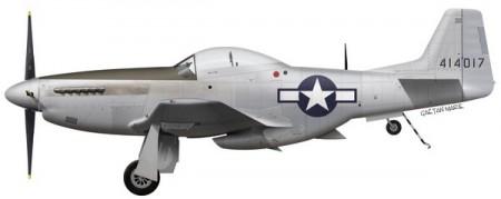 Profil du P-51D-5-NA s/n 44-14017, qui fut modifié pour les essais en mer. (C) Gaëtan Marie