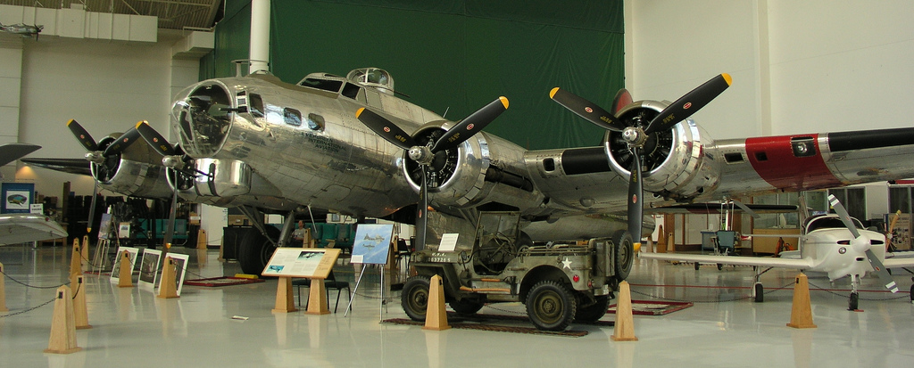 "Le B-17G ""Shady Lady"" à l'Evergreen Aviation & Space Museum. (Photo killbox (CC BY-NC 2.0))"