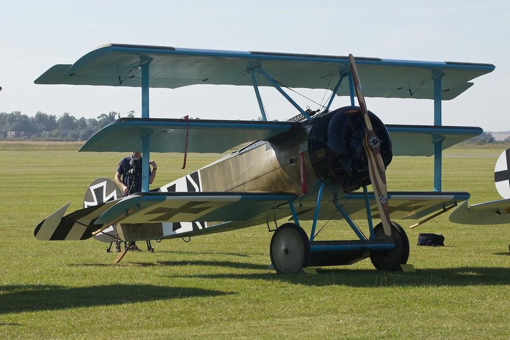 Le Fokker Dr.I de Bruce Dickinson. (Photo Paul Hudson (CC BY 2.0))
