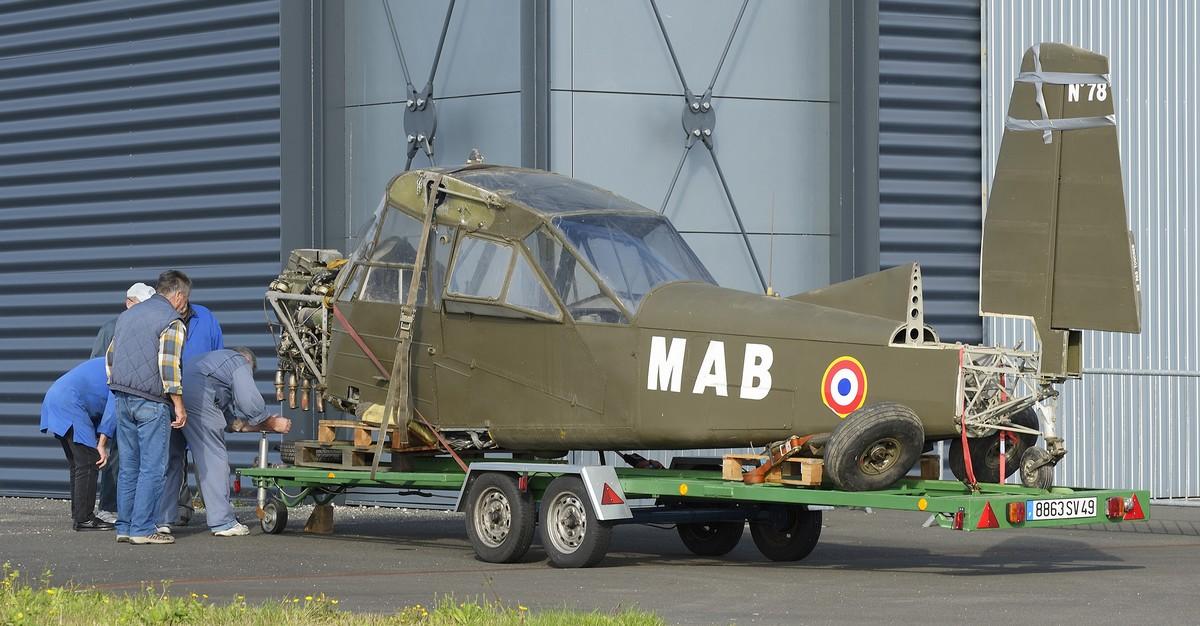 Arrivée du Nord 3400 « Norbarbe » n°78 au Musée de l'air d'Angers  (Photo © Y. Le Mao/Espace Air Passion)