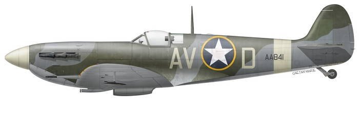 Le Spitfire Mk Vb AA841 fut une autre des monture de Spiros Spisanos au 335th FS, 4th FG. (© Gaëtan Marie)