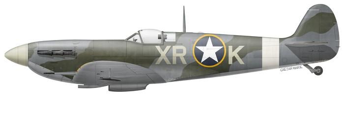 Spitfire Mk Vb EN783, l'un des appareils utilisés par Steve Pisanos au 334th FS, 4th FG. (© Gaëtan Marie)