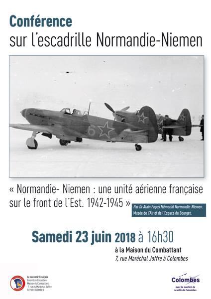"""Conférence """"Normandie-Niémen: une unité aérienne française sur le front de l'Est. 1942-1945"""""""