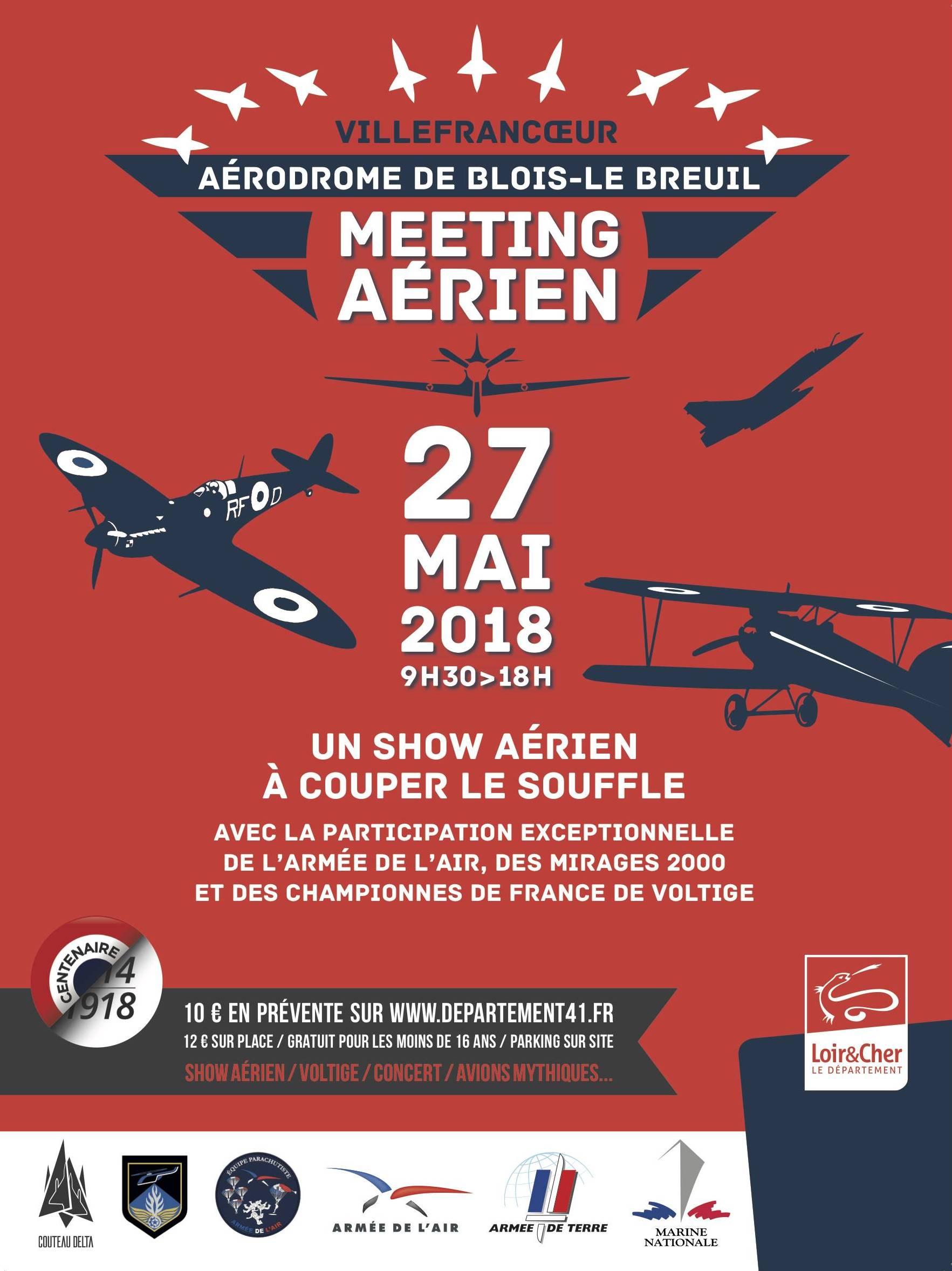 Meeting aérien sur l'aérodrome de Blois - Le Breuil