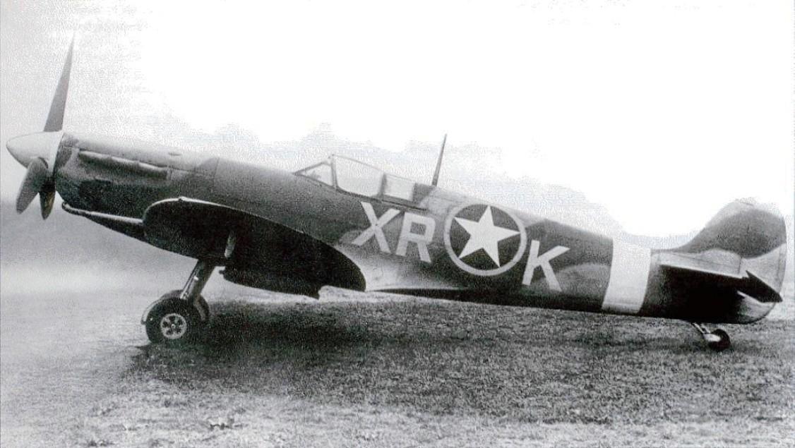 Le Spitfire Mk V EN783 du No 71 (Eagle) Squadron.