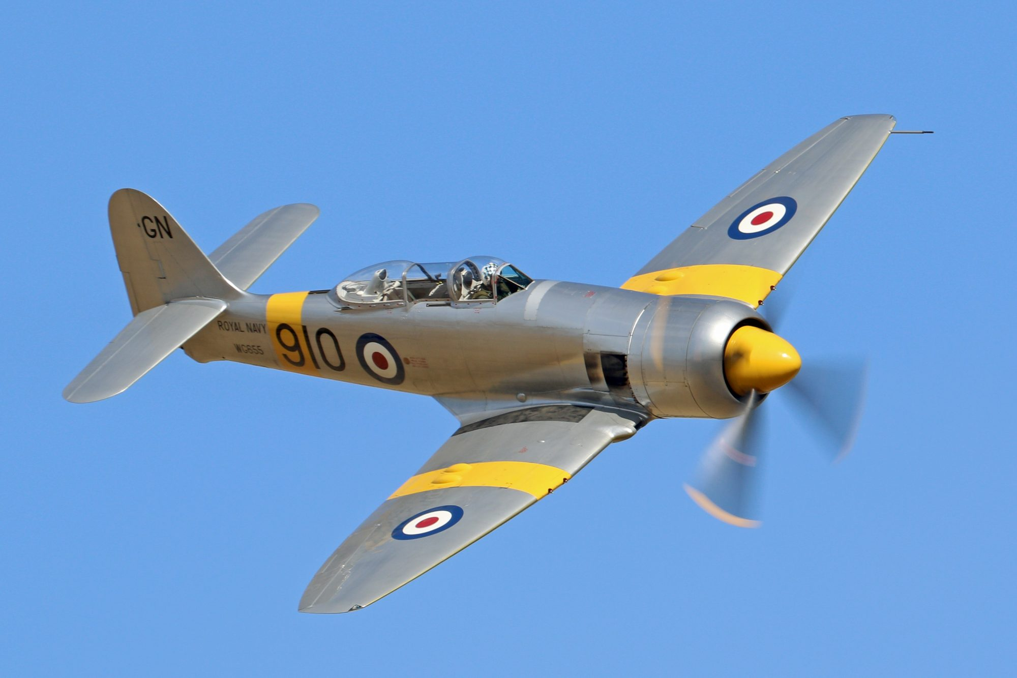 Hawker Sea Fury T Mk 20 G-CHFP (Photo © Simon Gratien)