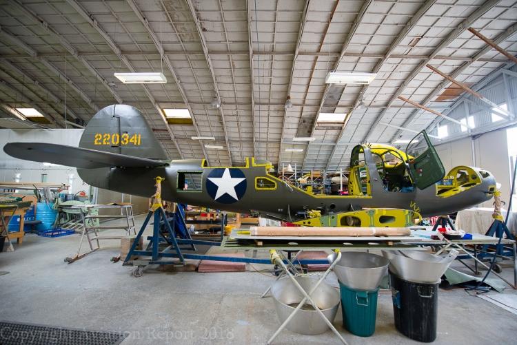 Le P-39 en cours de restauration chez Pioneer Aero.