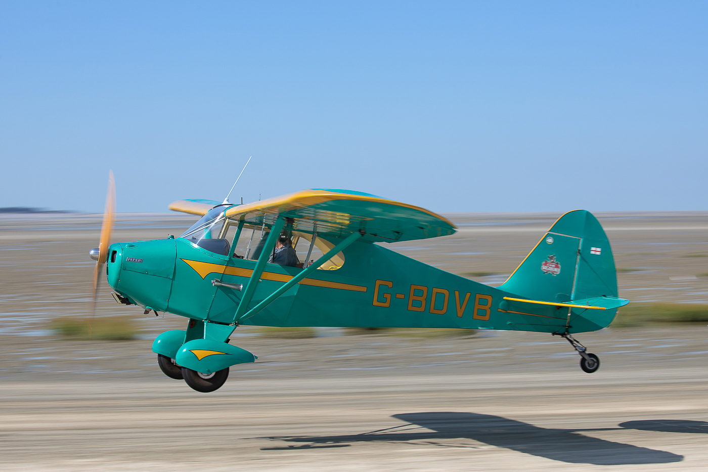 Venu d'outre-manche, le PA-17 VAGABOND G-BDVB fête ses 60 ans cette année © Damien Defever