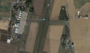 L'Aérodrome de Melun-Villaroche (Capture d'écran © Google Maps)