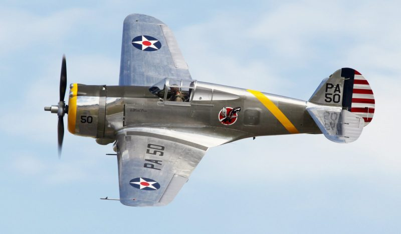 Curtiss P-36C 38-210/NX80FR ( Photo © Benjamin Gilbert )