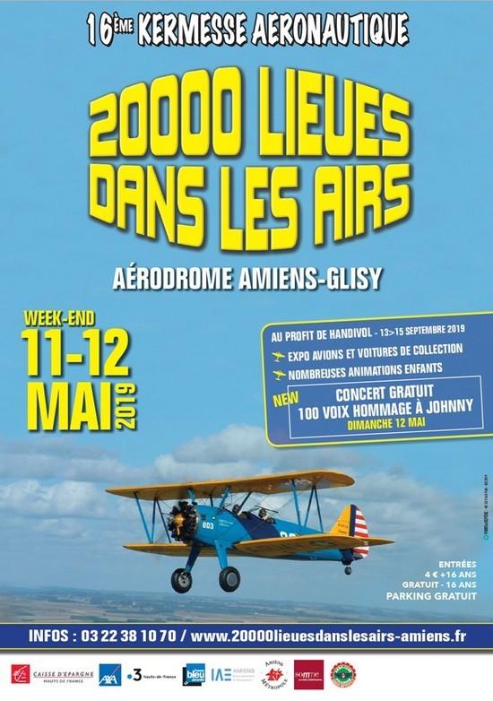 """16e Kermesse Aéronautique """"20 000 lieux dans les airs"""" à Amiens-Glisy"""