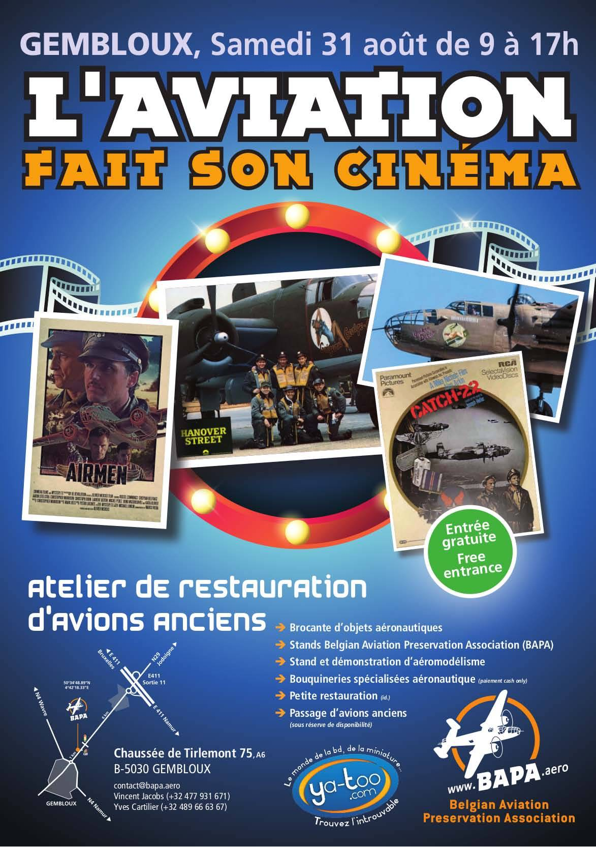 "JPO Belgian Aviation Preservation Association: ""L'Aviation fait son cinéma"""