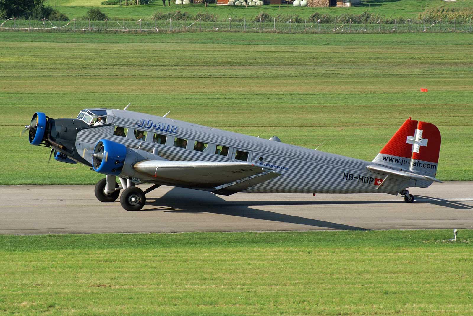 Le Junkers Ju-52 HB-HOP de JU-AIR en 2005 (Photo Kambu -(CC BY-2.0))-