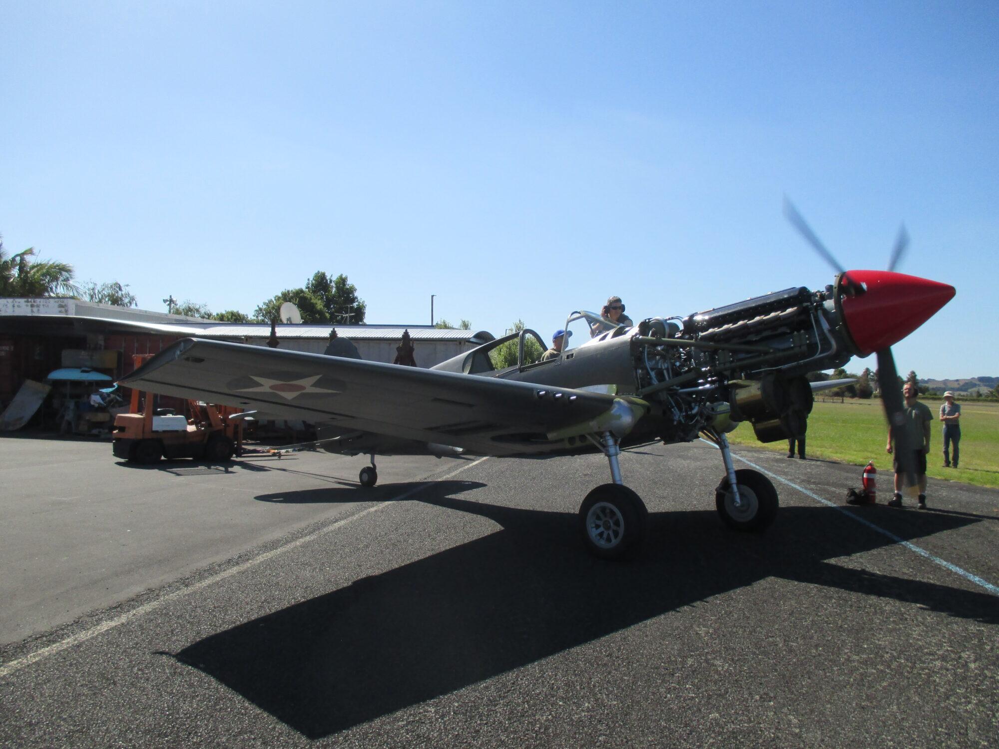Curtiss P-40E 41-13570 ( Photo © Pioneer Aero Restorations Ltd )