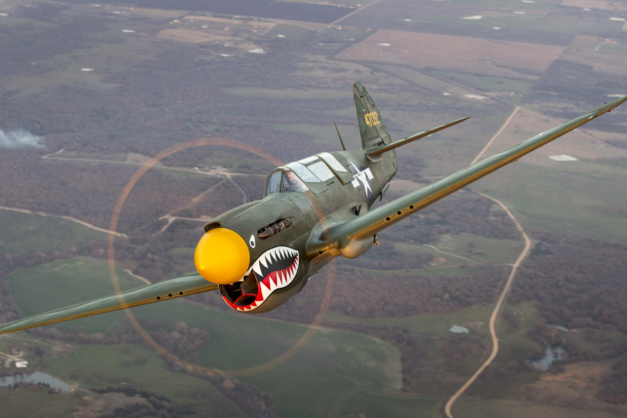Curtiss TP-40N 42-104721 N293FR ( Photo © Collings Foundation )