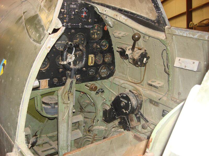MH415 cockpit © Vintage Fighter Restorations